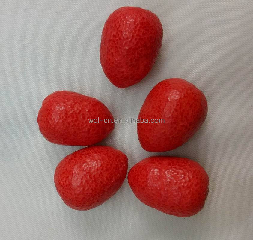 strawberry shape bubble gum