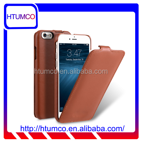 Traditional Brown Flip Genuine Leather Case for Oppo A33