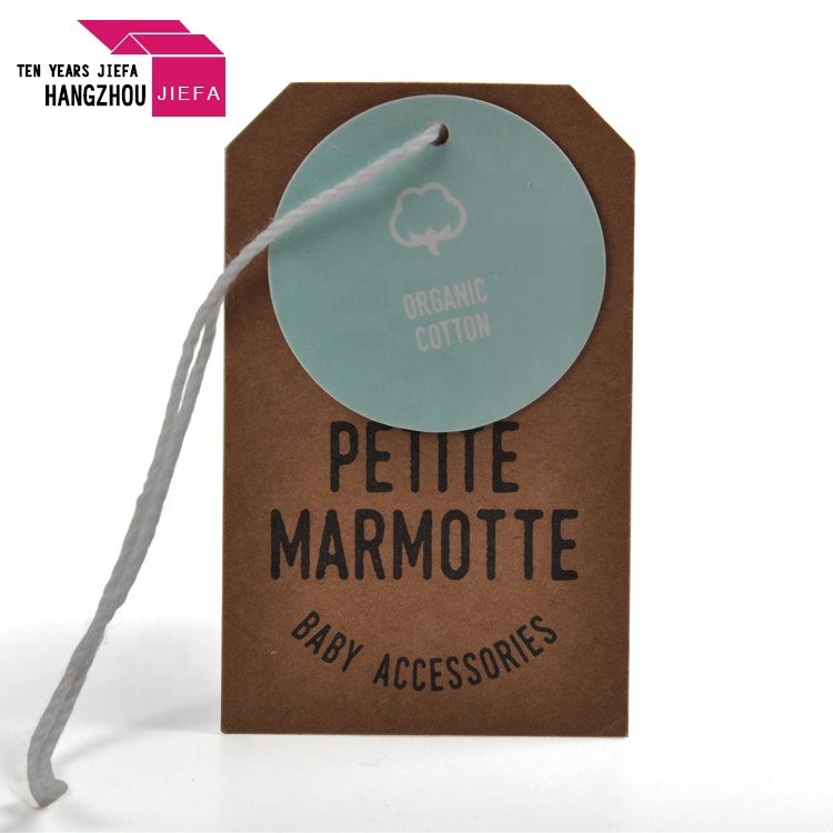 2018 Paper Hang Tag Eco-friendly Tag for Baby Clothes