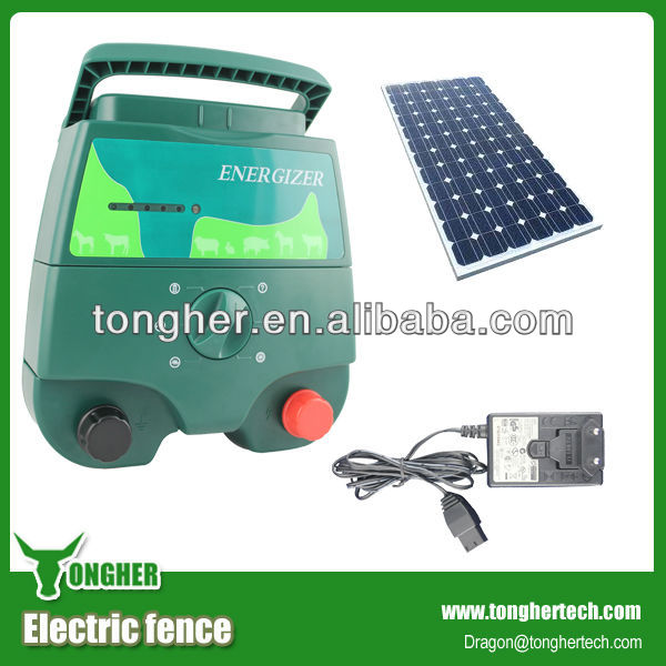 30W solar panel powered electric fencing energiser charger for farmers