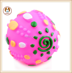 Pet toys Various colors plastic ball shaped cute toys for dog Vocalization sound squeaky thunder globe Ball toys