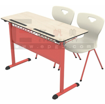 Classical Double Classroom Table and Chairs for Middle School Students