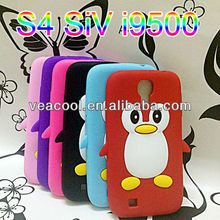 3D Penguin Silicone Back Cover Case For Samsung Galaxy S4 SIV i9500