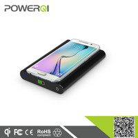 Wireless charging power bank with receiver 7000mah battery qi charger for iPhone 6 Plus