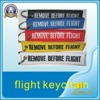 Promotion flight tags customized remove before flight keychain