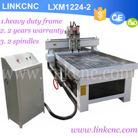 LXM1224-2 spindes / heads cnc router 1224 wood cnc cutter