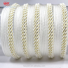 Hot Sale Polyester Metallic New Design High Quality Piping Garment White Ribbon