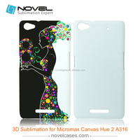 Cheapest diy blank 3D sublimation mobile phone cover for Micromax Canvas Hue 2 A316