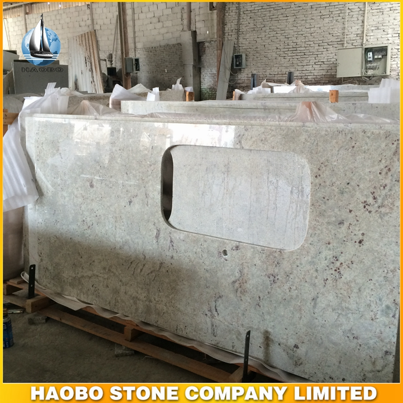 Haobo River White Granite Countertop Kitchen Top