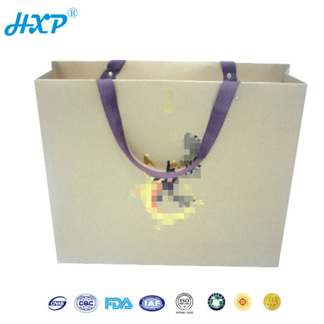 Cardboard box cosmetic gift set packaging box with Ribbon Handle
