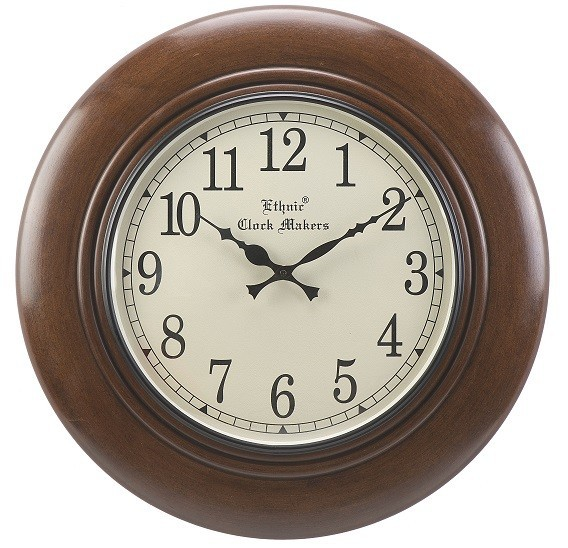 Ethnic Wooden Wall Clock