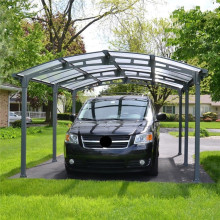 Luxury Motorcycle Carport with Aluminum Alloy Double Dome Frame Carport Column and Polycarbonate Solid Carport Cover