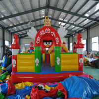 Kids play inflatable dragon city playground
