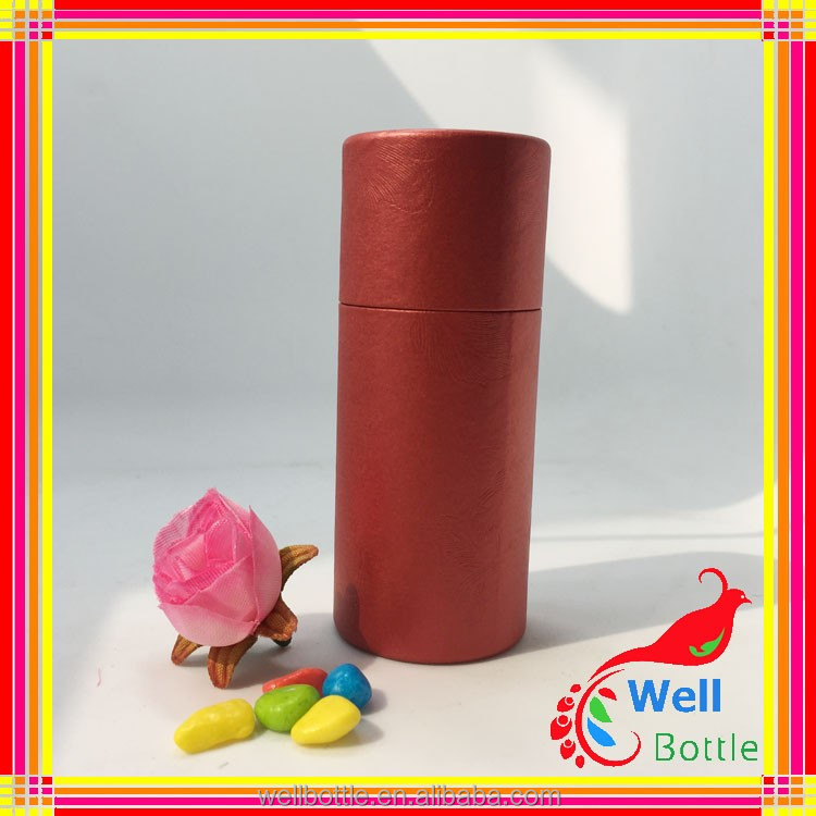 Red coloe paper tube with custom cardboard paper tube packaging for food tube packaging