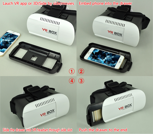 Charming vrII box for openning video with 3d glasses _WD723