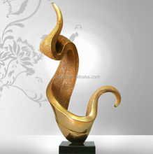 Golden abstract composite table sculpture