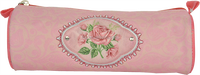 Fashion rose printing pen bag stationery pencil case