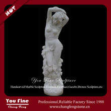Indoor Marble Nude Woman Snow White Life Size Nude Statues