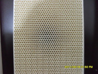 Energy efficient infrared honeycomb ceramic burner plate