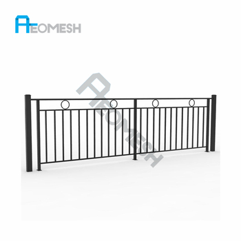 AEOMESH Uniquely Indoor & Outdoor Balcony Steel Railing Design, Stair Fencing for Sale