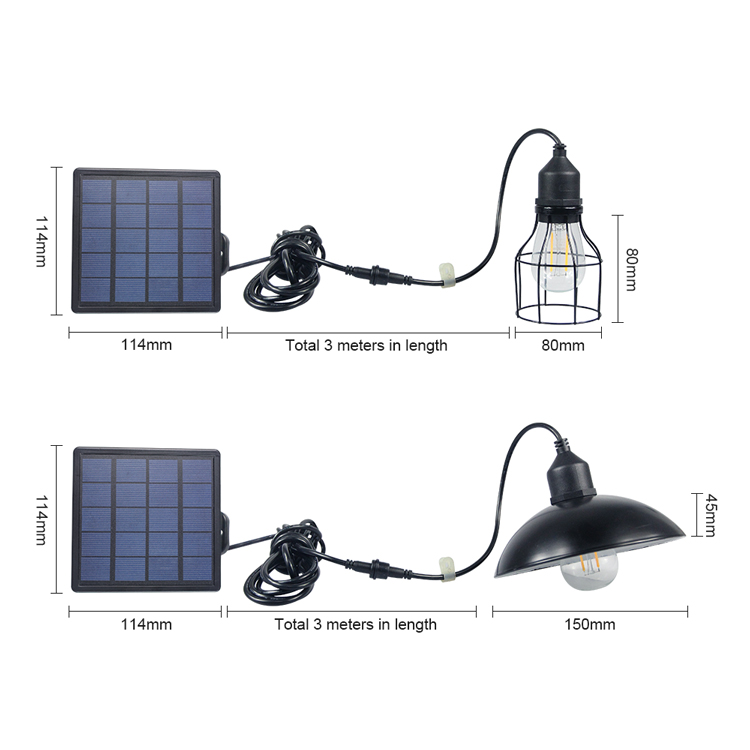 outdoor solar lamp Solar Panel Powered LED Bulb Light Portable Outdoor Camping Tent Energy Lamp