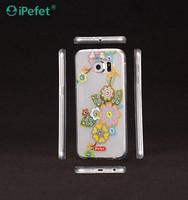 Crystal TPU Cover with flower mobile phone case for samsung