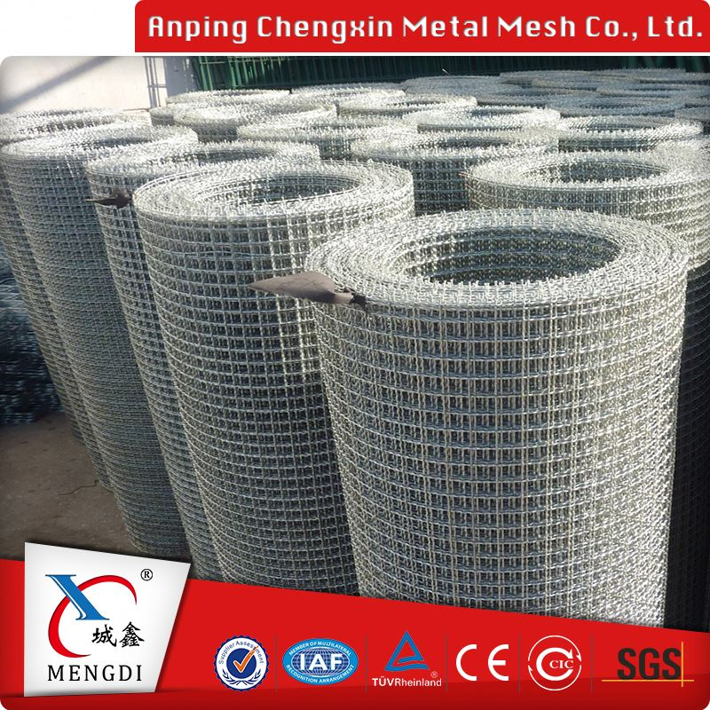 different types of galvanized crimped wire mesh