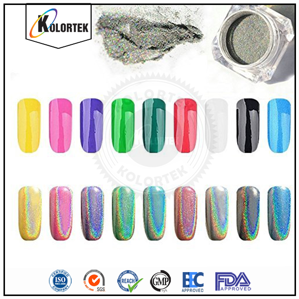 Kolortek holographic pigment for nail polish, spectraflair holographic pigment powder factory
