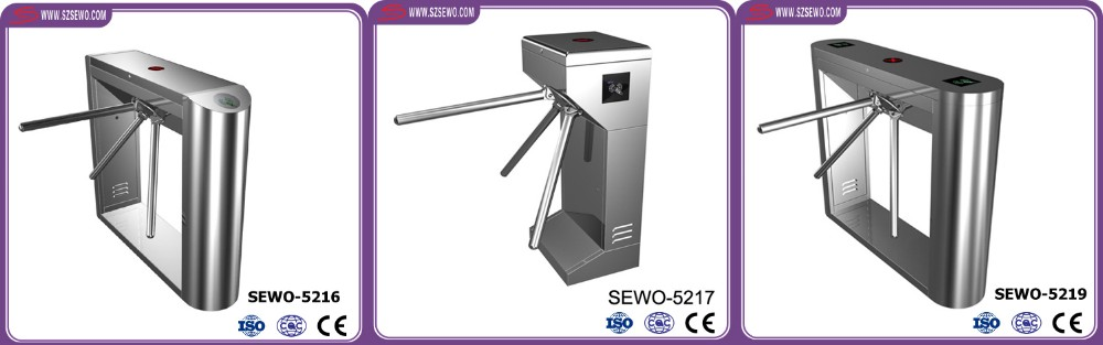SUS304 two directions automatic drop arm access control security turnstile gate
