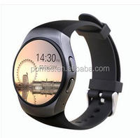 2016 High quality fashion IPS round touch screen smart watch heart rate monitor bracelet
