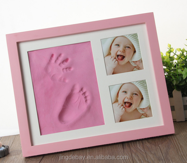 Children's hand footprint card paper frame decorative picture