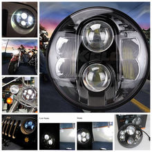 Factory round 30w 48w custom 7 inch led headlight hi lo led headlight bulb for j eep