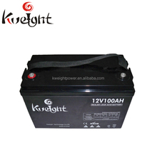 12v 100ah deep cycle rechargeable gel battery with high power for solar/UPS