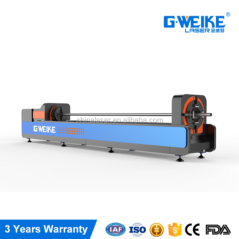 Automatic metal tube 3015CR fiber laser cutting machine