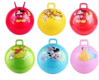 25cm size inflatable pvc bouncing hopper ball for kids with handle
