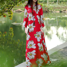 Women Dress Maxi Dress Modified Cheongsam Ethnic Style Traditional Chinese Dress