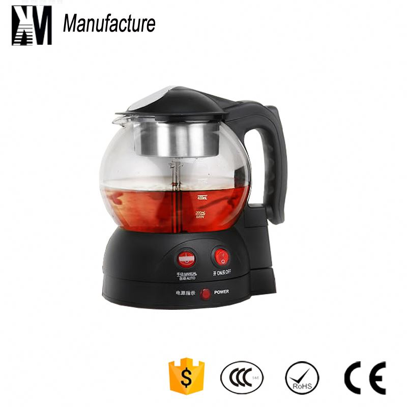 New Style hotel glass pot electrical tea kettle