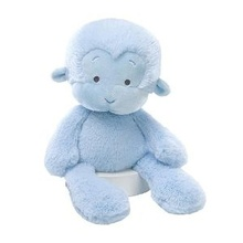 blue soft monkey stuffed animal toy for girl