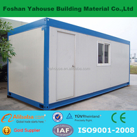 Good heat insulation mobile prefab flat pack container house with sandwich panel