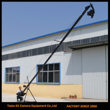 Remote PTZ head tetragonum cross section 8m jimmy jib camera crane for sale