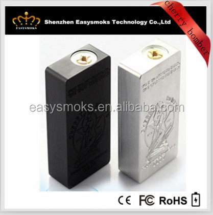 Most hot sale double 18650 battery cherry 'bomber box mod mechanical electronic cigarettes