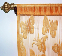 Butterfly pattern jacquard string door curtain for home decor 90 x 200