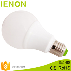 China supplier energy saving low price and moq 3w to 12w led bulb e27