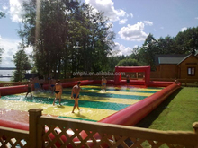 Hot soap football sale,inflatable soap football field,inflatable water soccer court