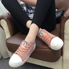 New Student Top Fashion Shoes Anti-Slippery Flats Shoes Wholesale Black/Pink/White Children Sneakers Girls Canvas Shoe