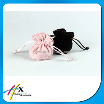 Simple High Quality Drawstring Velvet Jewelry Bag Custom Logo Jewelry Pouch