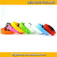 100pcs LED Nylon Pet Dog Collar Night Safety LED Light-up Flashing Glow in the Dark DC-2504