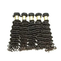 XBL 2 Days Delivery Deep Wave Peruvian Hair Weave, 100 Percent Human Hair Bulk