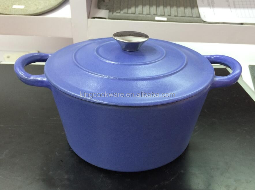 eco-friendly round /oval color enamel coating cast iron cookware/casserole pot