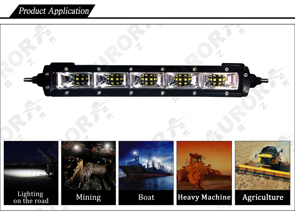 New 50W 120 Degree wider lighting area Scene light bar for farming and industrial usage